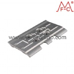 Forged track pad track shoe flat grouser